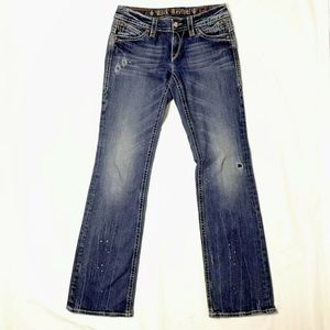 Rock Revival Amy Bootcut Jeans Distressed